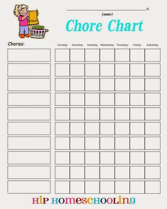 daily chore chart template
