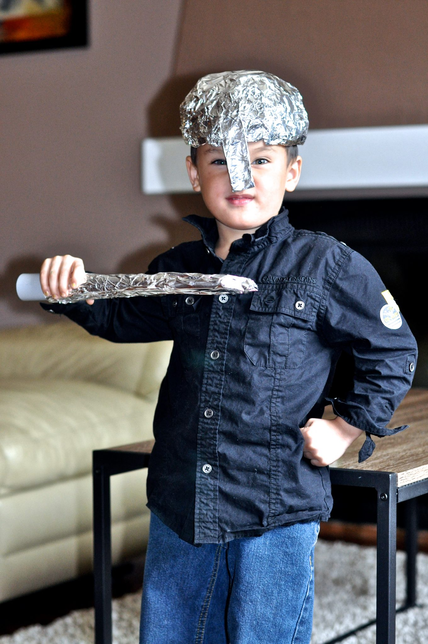 Make your own tinfoil Goliath armor: Jesus Storybook Bible David and Goliath free lesson plan