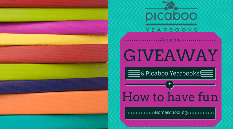 How to have fun homeschooling and picaboo yearbooks giveaway