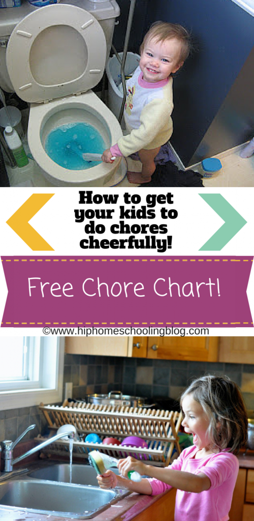 chores for kids: get your kids to help cheerfully with age appropriate chores and a free chore chart!