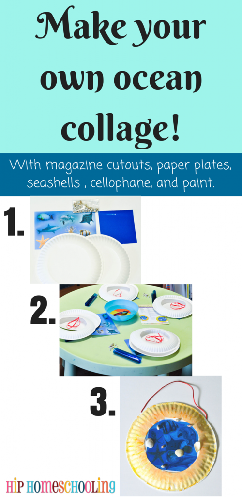 Make your own ocean collage and free homeschool planner printable