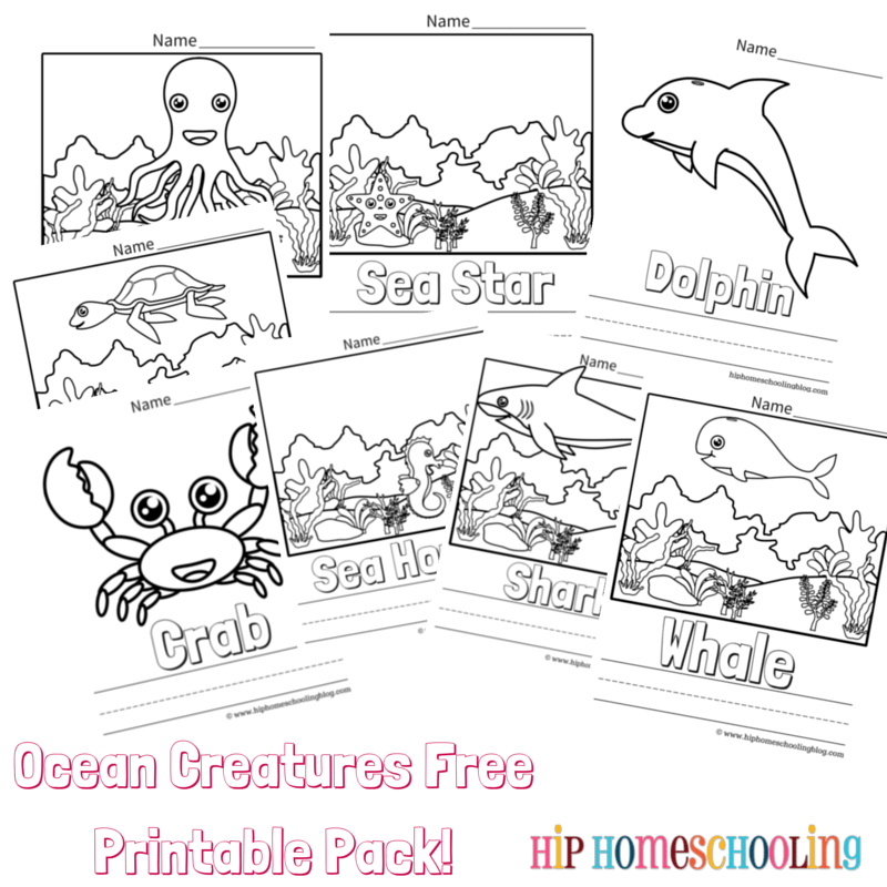 Ocean Unit Study Crafts and Free Printable Ocean Coloring Pages