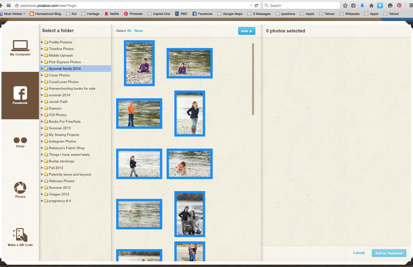 Uploading Photos to Picaboo Yearbooks