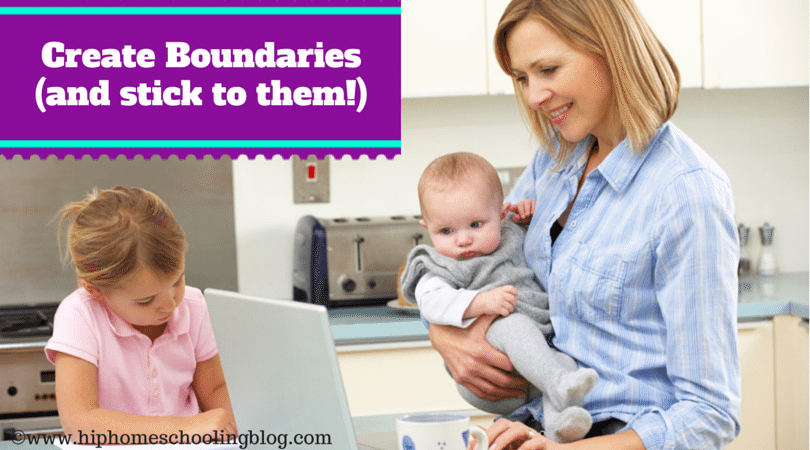 Managing Homeschooling and Working- Create boundaries (and stick with them!)