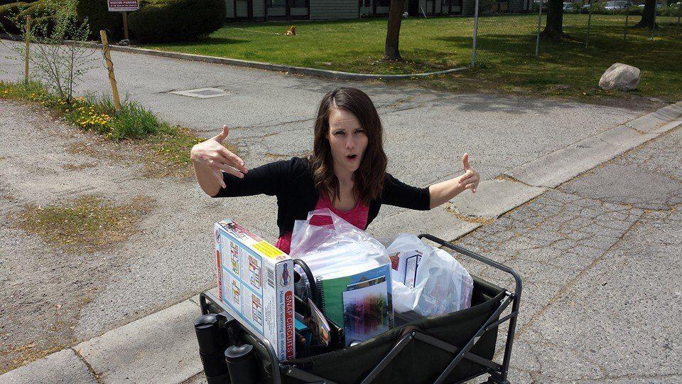 homeschool convention chaos: BRING A WAGON!