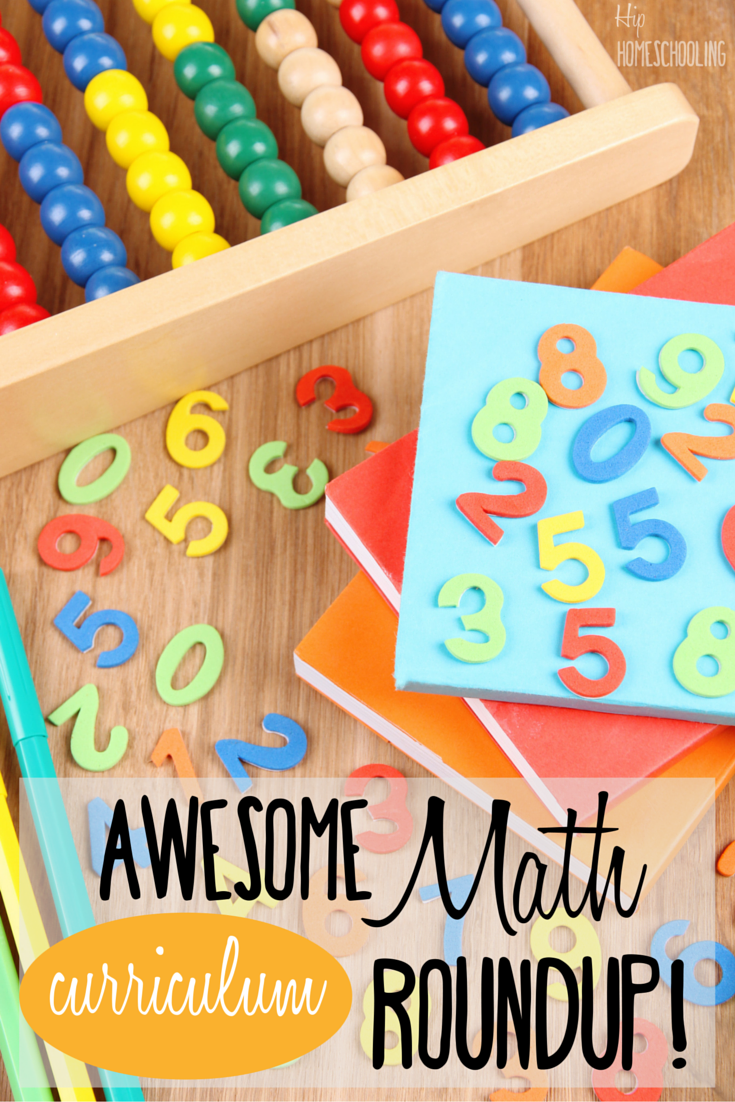 Awesome math curriculum roundup- math games, online math, hands on math, math for kinesthetic learners, homeschool math, this is an awesome resource. Check it out!