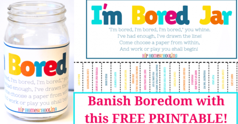 """I'm Bored"": Meet the Solution with this Free Printable"
