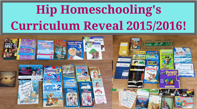 Hip Homeschooling's 2015/2016 Curriculum Reveal