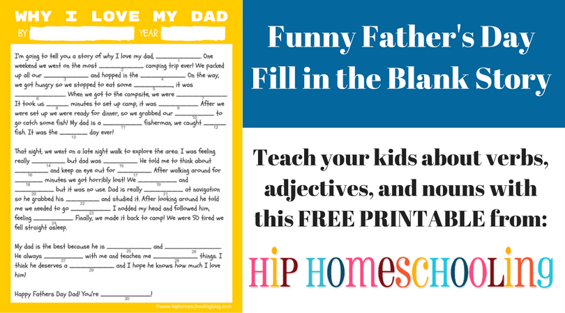 graphic regarding Father's Day Fill in the Blank Printable called Hunting for Home made Fathers Working day Items? Seize This Freebie!