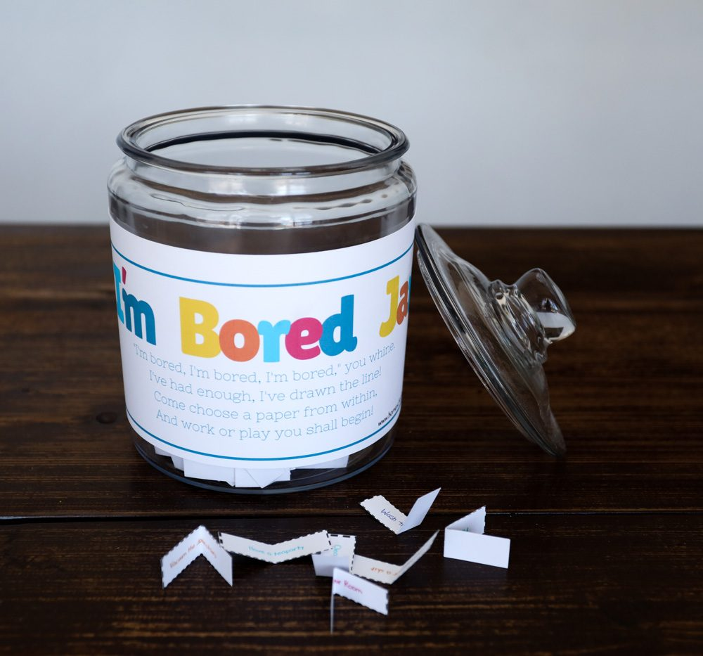 I'm Bored Jar Printable