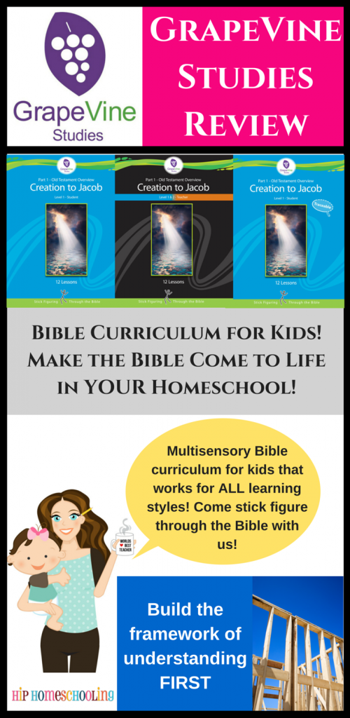 Multisensory Bible Curriculum that works for ALL learning styles, come find out why we love Grapvine Studies and get 20% off your order for a limited time. This is AWESOME!