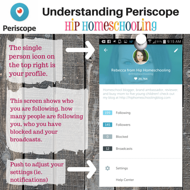 Understanding Periscope 4- your profile