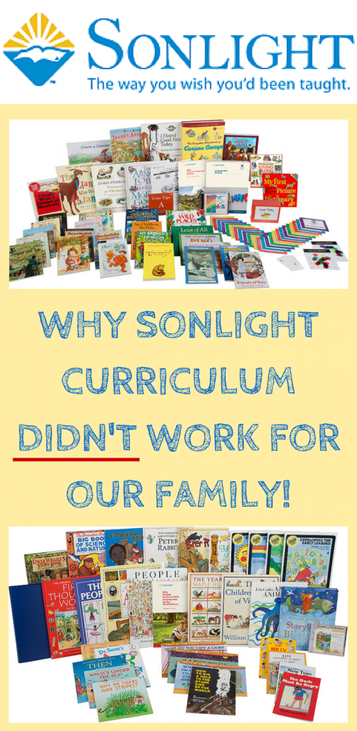 Why Sonlight Curriculum didn't work for our family, come read more!