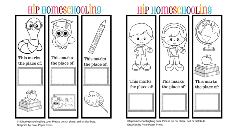 Free Printable Bookmarks To Color And Personlize