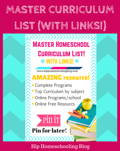 master curriculum list with links!