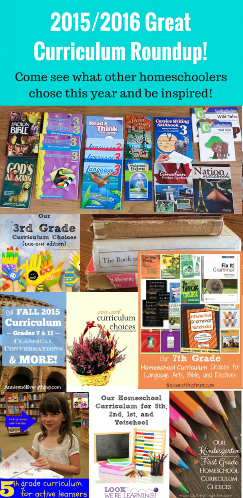 2015/2016 Great curriculum reveal roundup: Come see what other homeschoolers chose for this year and be inspired!