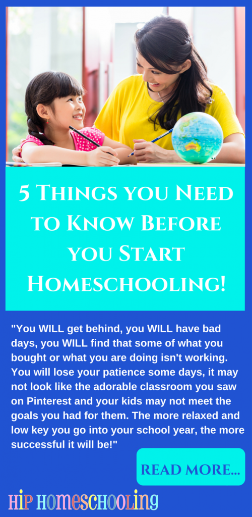 5 things you need to know before you start #homeschooling. You NEED to read this!