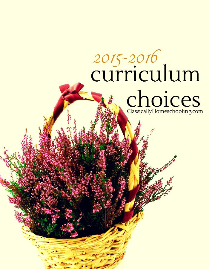 Classically Homeschooling Curriculum Choices