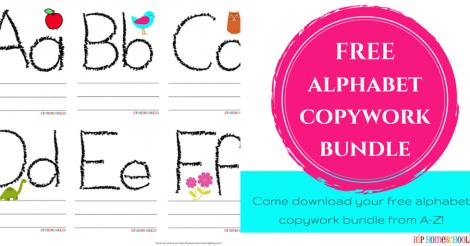 FREE Alphabet Copywork Bundle