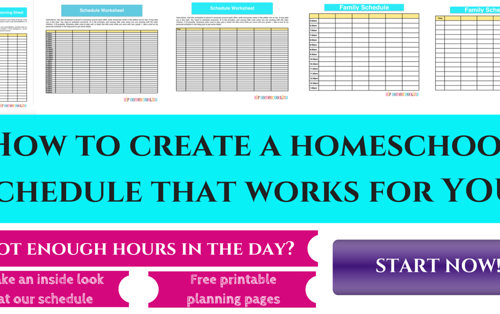 How to create a homeschool schedule that works with this free printable! Plus take an inside look at ours…