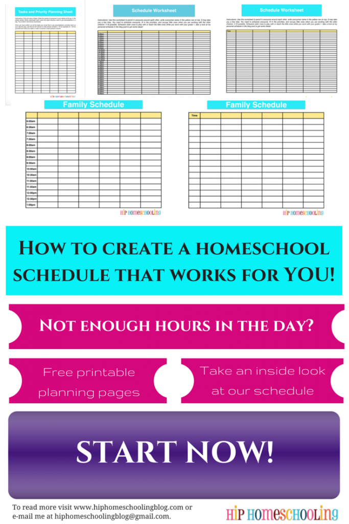It's just a photo of Printable Homeschool Schedule throughout template free