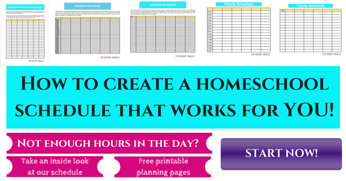 Homeschool schedule: How to create one that works!
