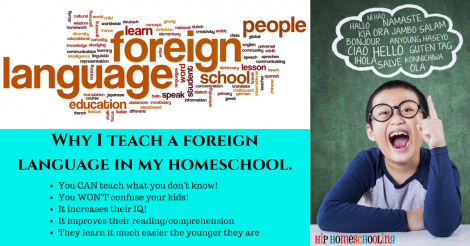 Why I teach a foreign language in my homeschool