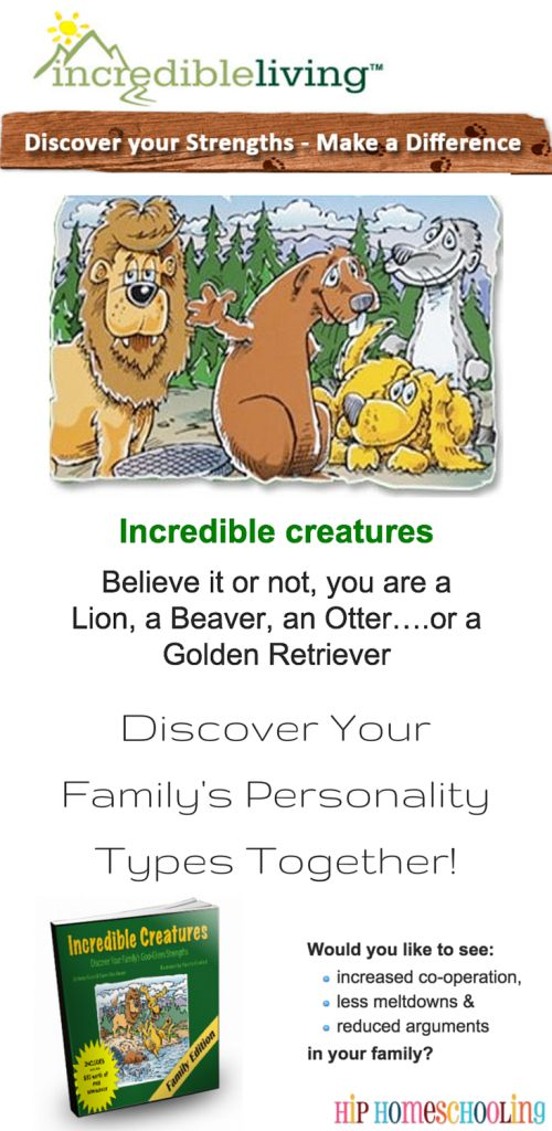 Incredible Creatures Personality and Character Study | homeschool personality quiz | character quiz