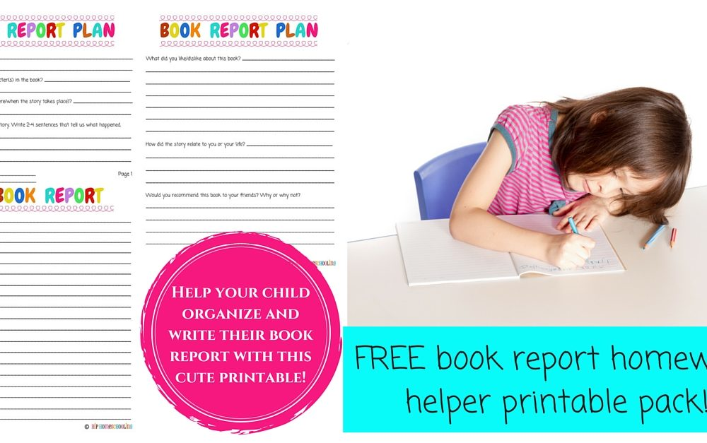 Check out this FREE book report planning printable!