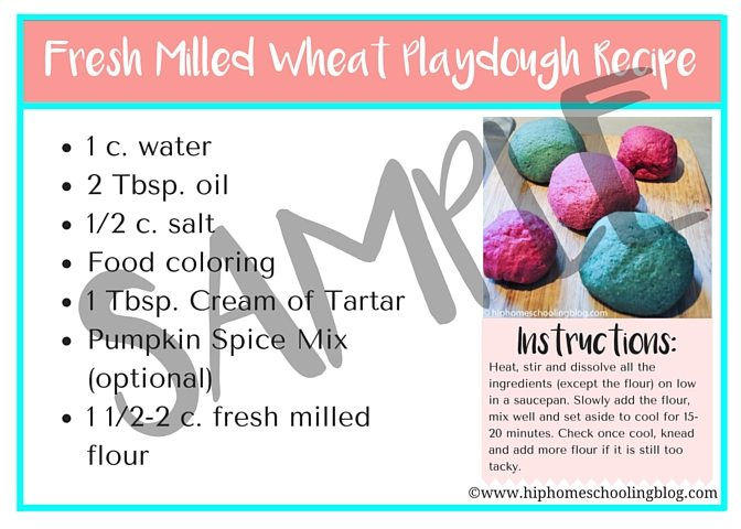 Fresh Milled Wheat Playdough Recipe