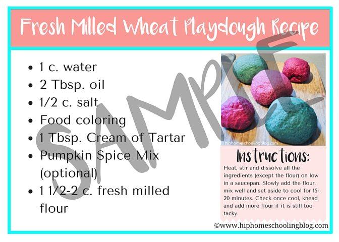 Fresh Milled Wheat Playdough Recipe