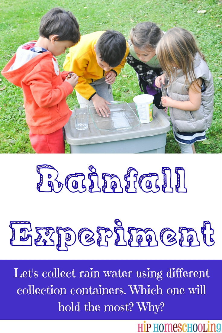rainfall water experiments with kids