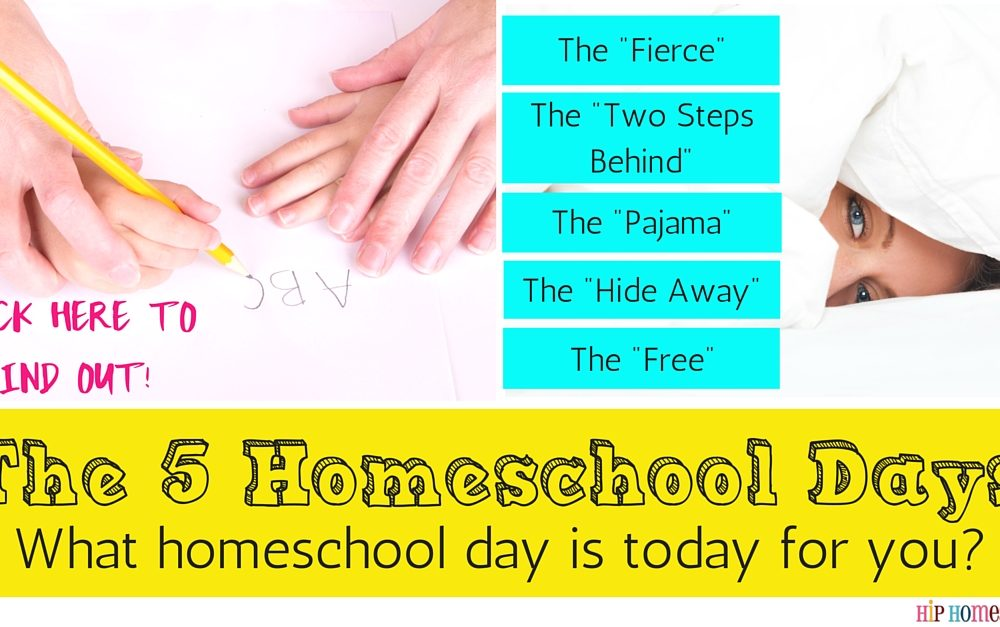 The 5 Days of Homeschooling: Which One Describes Your Homeschool Day Today?