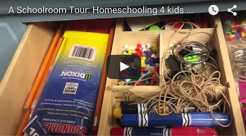 A Real Homeschool School Room Video Tour (that didn't cost a fortune!)
