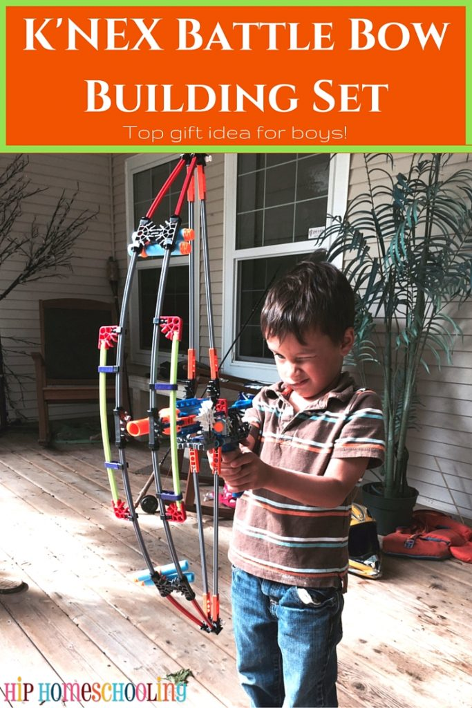 K'nex Battle Bow Building Set Review: Awesome birthday gift or christmas gift idea for boys! @HHomeschooling @Knexbrands