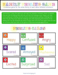 Looking for Inside Out Games? Try this fun Family Feelings Game