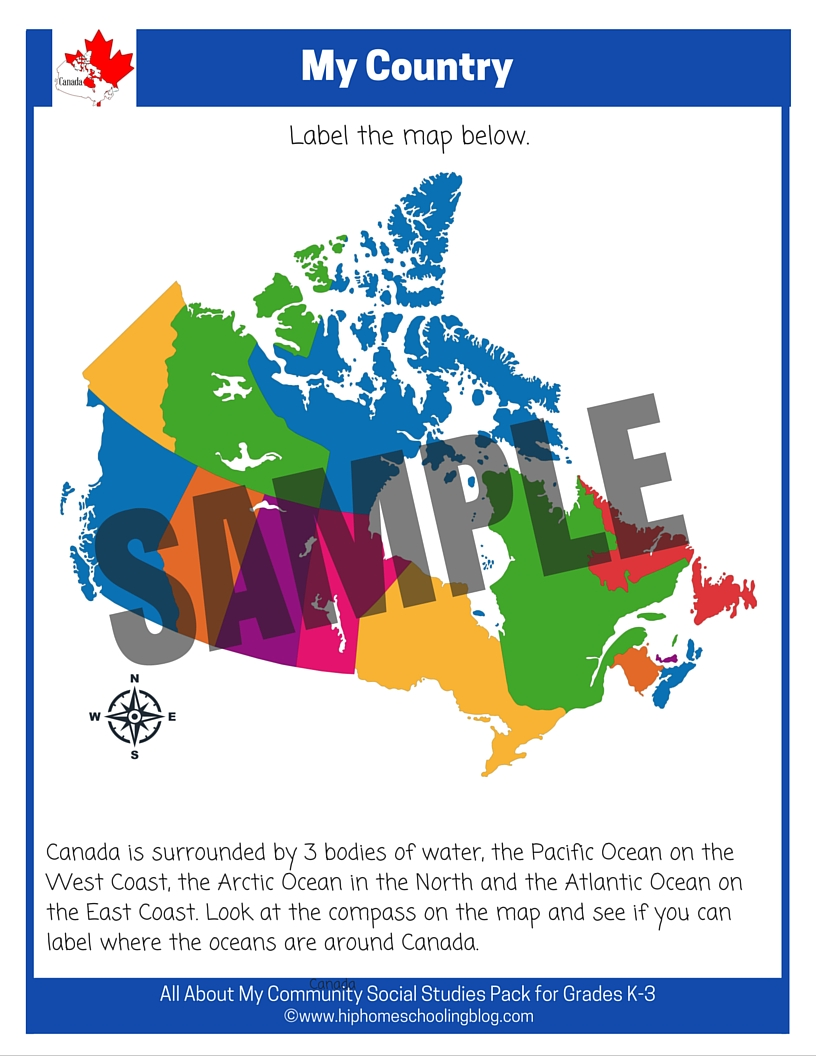 Grade 3 geography worksheets canada