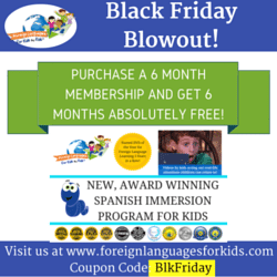 2015 Black Friday Deals with Foreign Languages for Kids