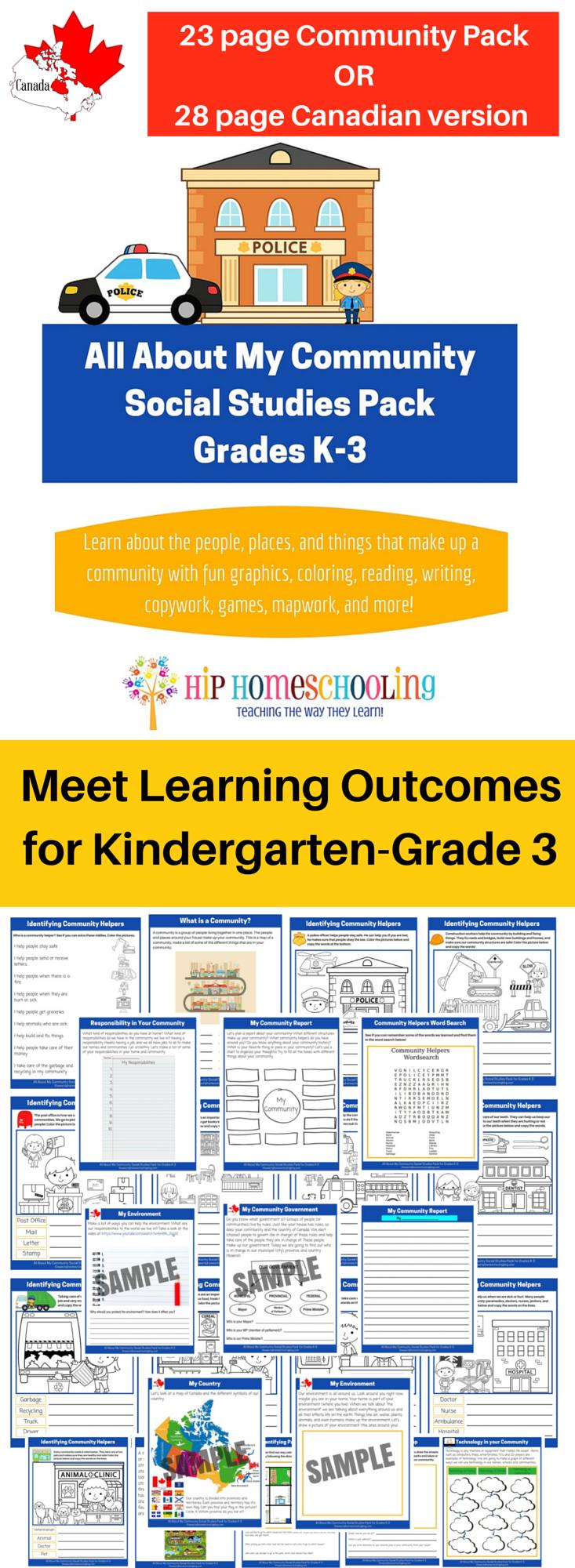 Grade 3 Social Studies Worksheets : Social studies k printable pack meet learning outcomes