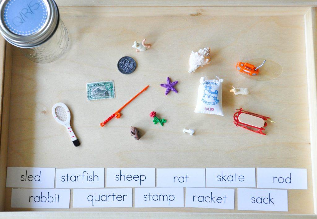 montessori alphabet tray ideas