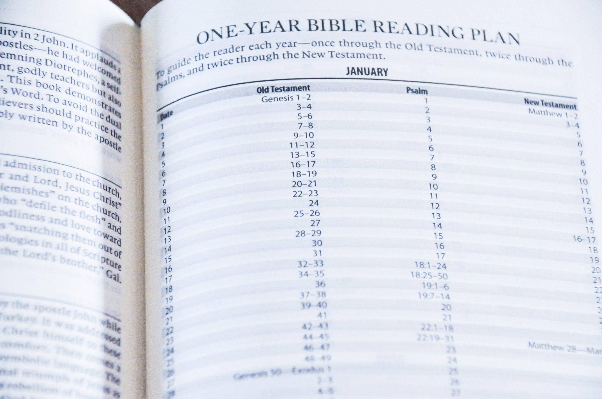 ESV Journaling Bible One Year Bible Reading Plan
