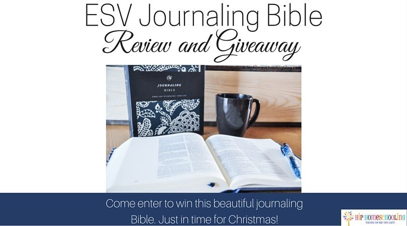 ESV Journaling Bible Review and Giveaway