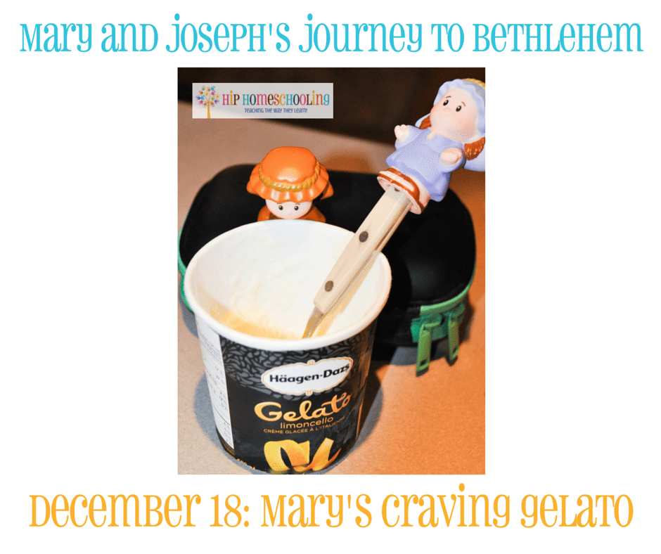 Elf on the Shelf Alternative- Journey to Bethlehem. Fun ideas for each day leading up to Christmas with pictures! December 18th