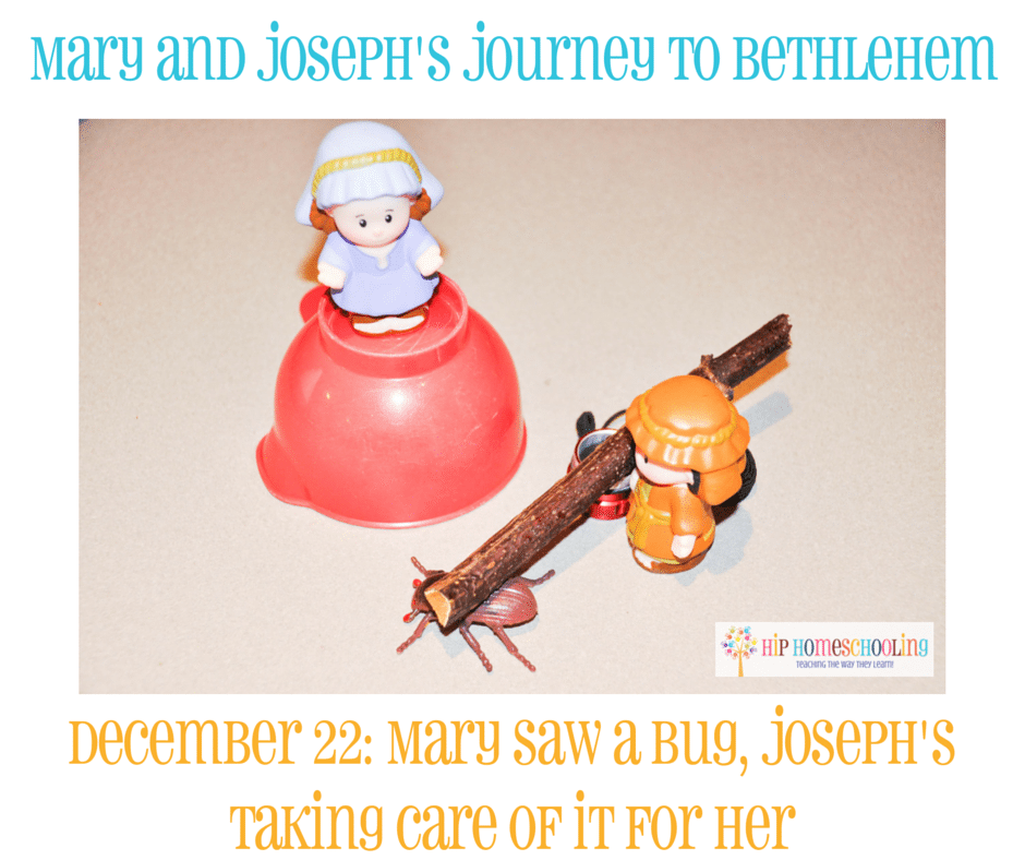 Elf on the Shelf Alternative- Journey to Bethlehem. Fun ideas for each day leading up to Christmas with pictures! December 22nd