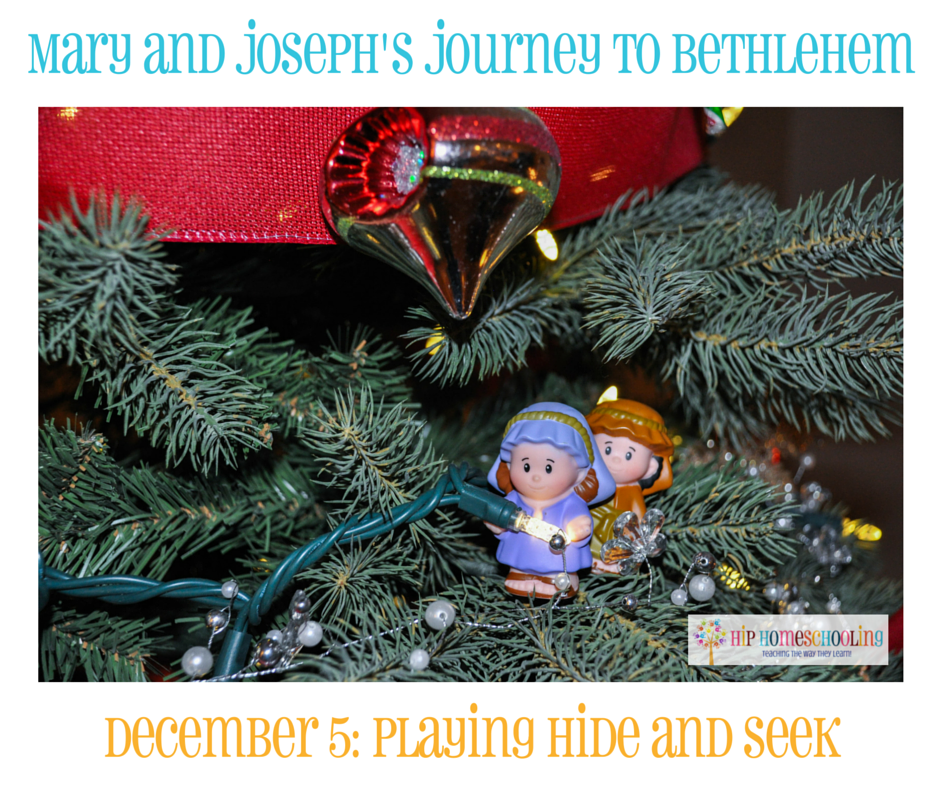 Elf on the Shelf Alternative- Journey to Bethlehem. Fun ideas for each day leading up to Christmas with pictures! December 5th