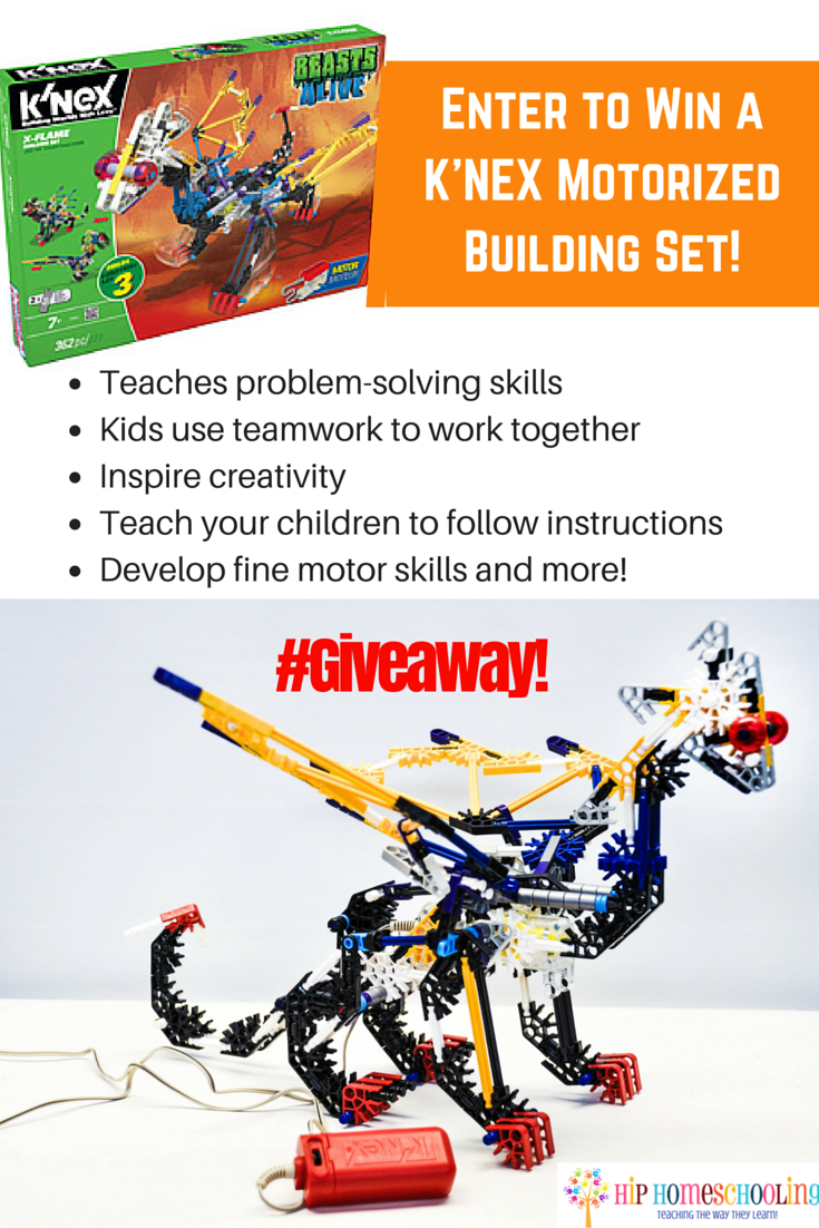 Toys that Teach: K'NEX building set review and giveaway! Come enter to win!