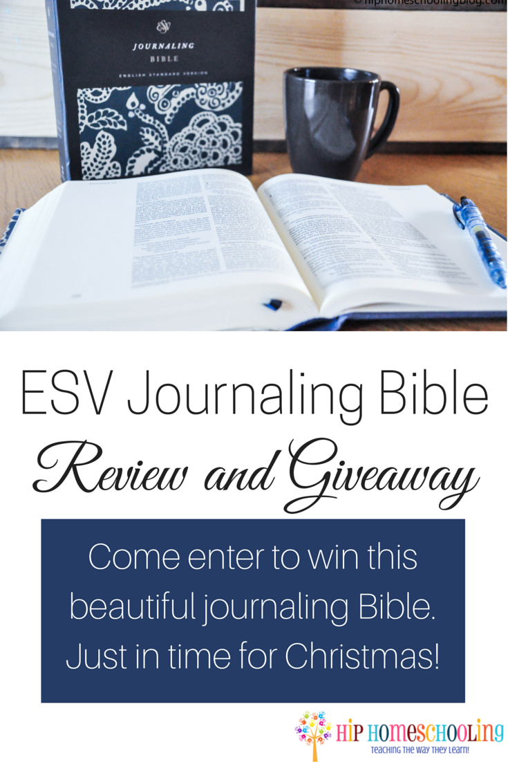 ESV Journaling Bible Review and Giveaway. Come enter to win this beautiful journaling Bible!