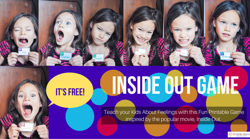 FREE Inside Out Games for the whole family to learn about feelings and have fun!
