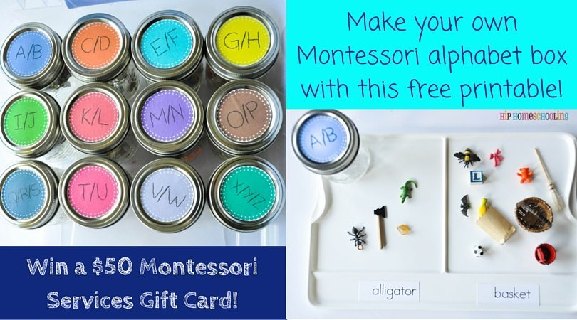 Make your own, cheap, Montessori alphabet box with this free printable! (1)