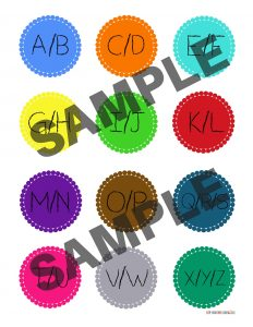 Montessori Alphabet Box Free Printable Labels